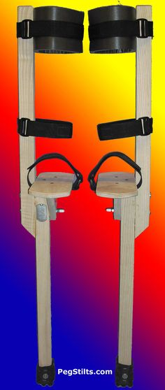 Ash Peg Stilts for Kids and Adults - Wood Strap-on type