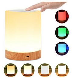 Night Light, UNIFUN Touch Lamp for Bedrooms Living Room Portable Table Bedside Lamps with Rechargeable Internal Battery Dimmable Warm White Light & Color Changing RGB - Best Seller List Bedside Lamps For Bedroom, Night Lamp For Bedroom, Bedside Table Lamps, Night Lamps, Lamp Table, Bedroom Ideas, Touch Lamp, Light Touch, Portable Table