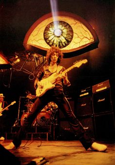 Rainbow, Straight Between The Eyes tour 1982Roger Glover, Bobby Rondinelli and Ritchie Blackmore