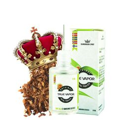 E-LIQUID - ROYAL TOBACCO € 3.80 This is an e-liquid classics from True Vapor providing the best tobacco flavor in the normal range.  Royal Tobacco is a very popular tobacco flavor that many users love to enjoy in their e-cigarette.  You get a real flavor of tobacco and smoke (steam), which makes it feel like smoking a real cigarette. Royal Tobacco is crafted using natural extracts from real tobacco leaves, giving a very original flavor.