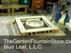 Setting An Oak Park Studio Vase Mold For Casting Garden Urns, Garden Planters, Concrete Garden, Oak Park, Blue Leaves, Installation Instructions, Fountain, It Cast, Vase
