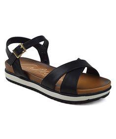 Loving this Black Cathy Platform Sandal on #zulily! #zulilyfinds
