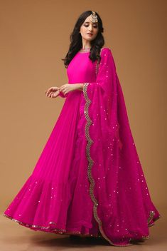 Siya Fashion Attractive Pink Embroidered Party Wear Designer Anarkali Suit Source by siyafashionsurat fashion indian Indian Gowns Dresses, Indian Fashion Dresses, Dress Indian Style, Indian Designer Outfits, Pakistani Dresses, Indian Designers, Designer Party Wear Dresses, Kurti Designs Party Wear, Designer Anarkali Dresses