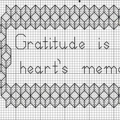 Free Gratitude Saying Cross Stitch Pattern