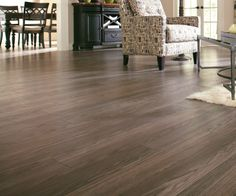 Gorgeous Provence Oak laminate flooring with a premium embossed wood grain texture.  It has superior resistance to scratching, staining, and fading.
