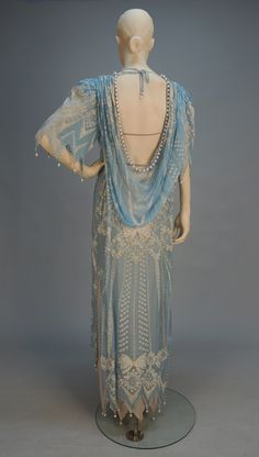 1920s dress back view.                                                                                                                                                                                 More
