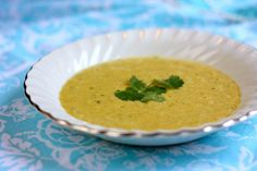 Chilled Mango Spiced Soup recipe, perfect for a warm day!