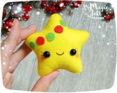Christmas ornaments Star felt Christmas ornament by MyMagicFelt