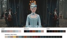 Color palettes inspired by movies. Excellent. This one: Female Directors Week - Sofia CoppolaMarie Antoinette, 2006Cinematography: Lance Acord
