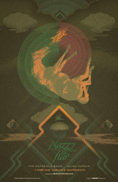 Mazzy Star - Gigposter for show at Harlow's Sacramento by Jason Malmberg, via Behance