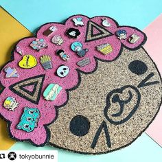 My scare bear pin is part of this rad collection and its on the coolest board Ive seen so far! Love it. _  #Repost @tokyobunnie thanks for tagging me!  I made an Afro Cat cork board for pin display! We have some shows coming up and I needed a cute new way to showcase pins. Makers tagged! (Also I suck at painting so he looks very homemade )   #pingame #pingamestrong #pindisplay #afrocat #boredinc #kawaii #lapelpin #enamelpin #makersgonnamake