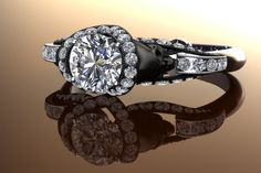 diamond skull ring. a girl can dream