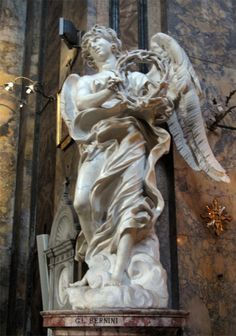 """""""Angelo con corona di spine"""" 1667  Dimension: ?  Sant'Andrea delle Fratte, Roma"""