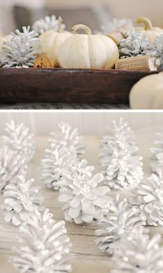 How to Paint Pine Cones | Click for 28 Easy DIY Christmas Decor Ideas on a Budget | Handmade Christmas Decorations Ideas