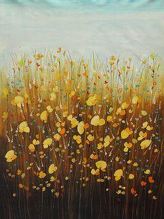 "Landscape Fine Art ""Wild Flowers"" at a Scottsdale Art Gallery Canvas Artwork, Wild Flowers, Originals, Art Gallery, Fine Art, Contemporary, Landscape, Painting, Color"
