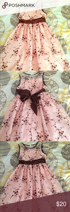 Long formal dress. Long formal dress. Pink and brown. Bonnie Jean Dresses Formal