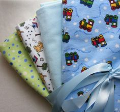 4 Swaddle Receiving Blankets for Baby Boy by FindUrHappyPlace, $30.00