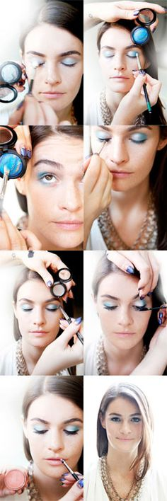 #MAC makeup artist #KeriBlair takes blue #eyeshadow from work to late-night