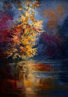 Mist - River - Autumn Justyna Kopania Poland (Fantastic texture colors!)