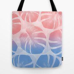 MONSTERA ROSE QUARTZ//SERENITY Tote Bag #monstera #monsteratotebag #rosequartz #serenity #pantone #totebag #art #print #trend #monsteradeliciosa #tropic #botanic #botanicdecor #botanictrend #accessory