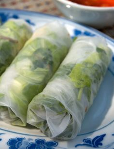 Vegetarian Spring Rolls with Spicy Peanut Sauce