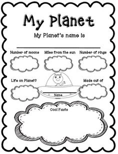 Create Your Own Planet Project - Create Your Own Planet Project by Lisa Sadler Planets Preschool, Planets Activities, Space Activities, Learning Activities, Kids Learning, Preschool Math, Science Projects, School Projects, Constellations