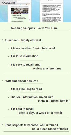 Reading snippets gives pure info, saves time  #business #vc #arzillion #startup #funding http://arzillion.com/S/tokmXV