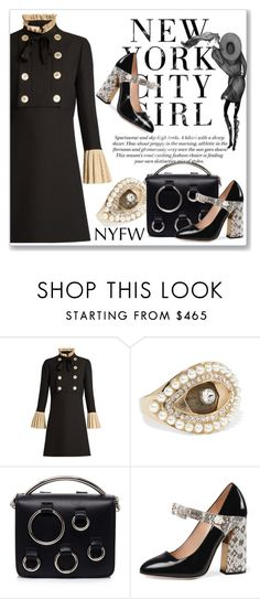 """""""What to Pack: NYFW"""" by andrejae ❤ liked on Polyvore featuring Gucci, Alexander McQueen, MSGM and NYFW"""