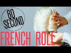Hair Tutorial // Simple French Roll — Treasures & Travels