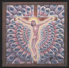ALEX GREY SIGNED CARBON JESUS VINTAGE BLOTTER ART MARK MCCLOUD 281/500 | eBay