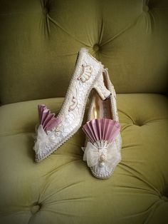 Marie Antoinette Costume Shoes Wedding Heels by HexHeartHollow