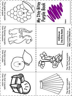 Purple Worksheets For Preschool Color Worksheets For Preschool, Preschool Colors, Preschool Curriculum, Color Activities, Preschool Classroom, Preschool Activities, Kindergarten, Homeschool, Teaching Toddlers Colors