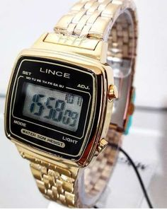 e38ceca2b0d Relógio Lince Feminino Quadrado Digital Vintage Sdph040l - R  199