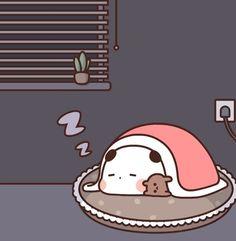 Cute Love Gif, Cute Cat Gif, Cute Cartoon Pictures, Cartoon Pics, Kawaii Illustration, Little Panda, Cute Memes, Cute Panda, Nara