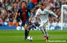 Christiano Ronaldo during the El Classico. Real Madrid 2-1 FC Barcelona  #HalaMadrid #RealMadrid
