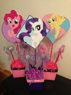 Decorations at a My Little Pony Party #mylittlepony #partydecor