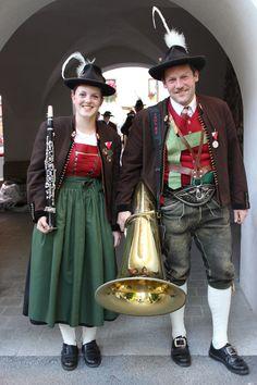 Musikanten der Musikkapelle Aurach #Eröffnungsfeier #3Wandereuropiade