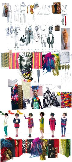 Fashion Portfolio - fashion sketchbook drawings & fashion design development with research, swatches, progression & final collection