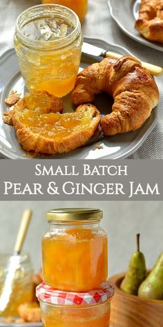 This small batch, no added pectin pear and ginger jam makes a delicious, firey, Autumnal jam that is perfect for breakfast, filling cakes or for gifting at Christmas! Pear Recipes, Jelly Recipes, Sweet Recipes, Bacon Recipes, Jalapeno Recipes, Drink Recipes, Blender Recipes, Smoothie Recipes, Pear Preserves