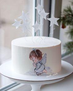 С Рождеством, друзья! Хочу пожелать вам, чтобы все ваши мечты сбывались! Мечтайте! Тортик был на крещение и он сегодня в тему Рисунок по крему, звездочки из вафельной бумаги #тортлипецк #липецкторт #тортназаказлипецк #липецк #тортнакрешениелипецк #детскийтортлипецк #рисунокпокрему #cake #food #foodfoto #foodporn #foodbloger #angel #baby #love #god #lipetsk #lipa48 #vscolipetsk
