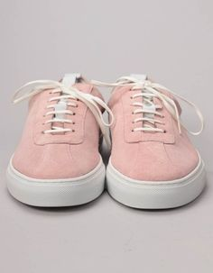 These dusty pink lotus suede sneakers have a sleek, clean style that has been inspired by men's tennis shoes of the Free UK delivery on orders over Pink Lotus, Suede Sneakers, Dusty Pink, Baby Shoes, Footwear, Clothing, Men, Style, Fashion