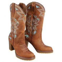 Womans Western Boots....love the design and colors!