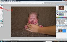 How to create the head in hands newborn picture.