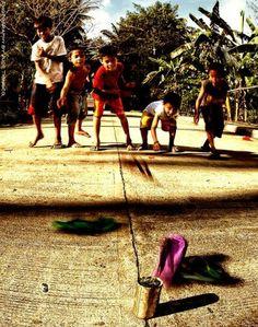 Filipino game called Tumbang Preso #Philippines #Filipino #culture #Philippine #game #outdoor #Pilipinas #Pinas #Pinoy #Asia #Asian