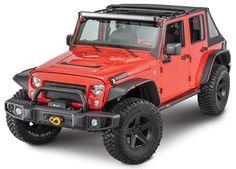 Bushwacker Flat Style Flares for 07-17 Jeep® Wrangler Unlimited JK 4 Door…