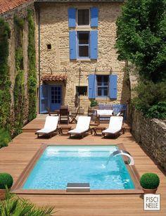 Une mini piscine Piscinelle à Grignan en Drôme Provençale.