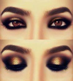 Intense look for brown eyes.