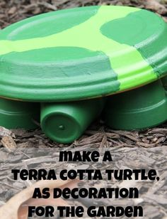 Make a super cute painted terra cotta turtle for the garden with this quick and easy tutorial for the kids.