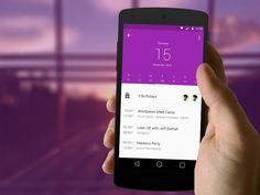 Calendar App User interface by @swapnaranjita