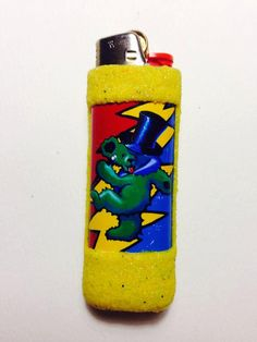 Grateful Dead GREEN Bear Bic Lighter Case by LotLighters on Etsy